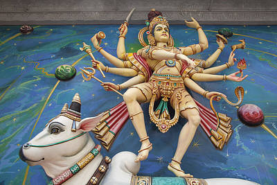 Nataraj Dancing Shiva Statue Art Print