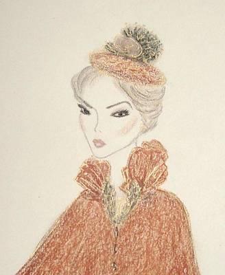 Drawing - Natasha by Christine Corretti