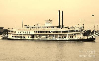 Photograph - Natches Riverboat by Pat Knieff