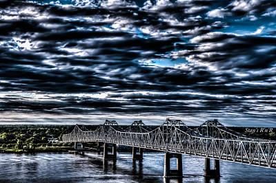 Natchez Bridge Art Print by Stan  Smith