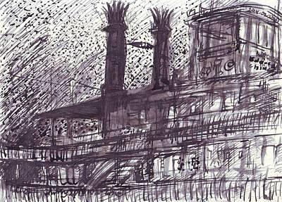 Drawing - Natchez  by Edward Ching
