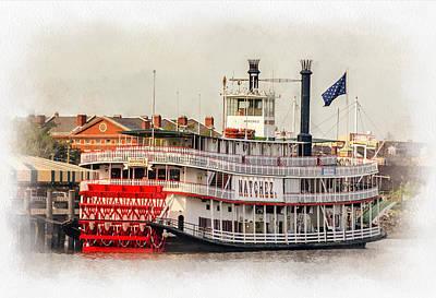 Steamboat Photograph - Natchez Sternwheeler Paint by Steve Harrington