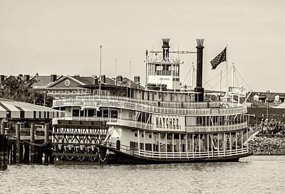Steamboat Photograph - Natchez Sternwheeler Sepia by Steve Harrington