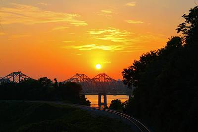 Natchez Sunset Art Print