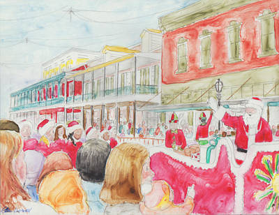 Painting - Natchitoches Christmas Parade by Ellen Howell