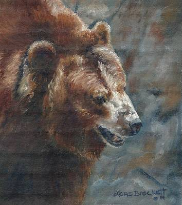 Painting - Nate - The Bear by Lori Brackett