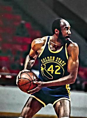 Thurmond Wall Art - Painting - Nate Thurmond by Florian Rodarte