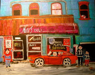 Ottawa Roughriders Painting - Nate's Deli Ottawa by Michael Litvack