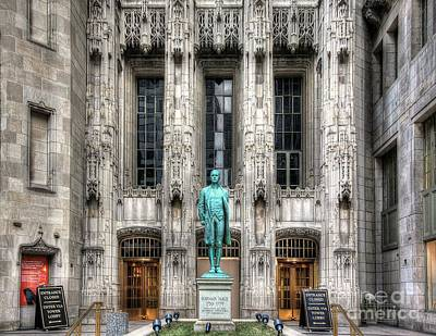Photograph - Nathan Hale Entrance - Tribune Tower by John December
