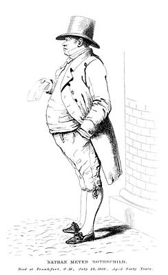 Drawing - Nathan Meyer Rothschild (1777-1836) by Granger