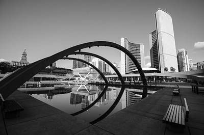 Nathan Phillips Square Art Print by Eric Dewar