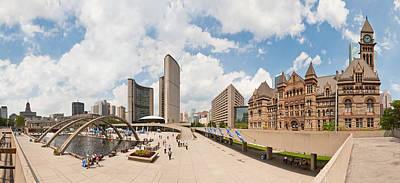 Financial District Digital Art - Nathan Phillips Square Toronto by Georgia Fowler