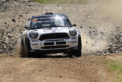 Photograph - Nathan Quinn Fia World Rally Championship Australia 2013 by Noel Elliot