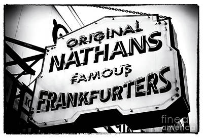 Nathans Famous Frankfurters Art Print by John Rizzuto