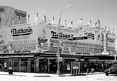 Photograph - 'nathan's Famous Hot Dogs' by Liza Dey