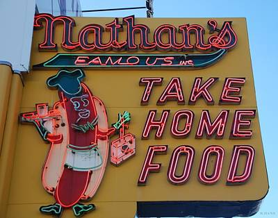 American City Scene Digital Art - Nathan's Famous by Rob Hans