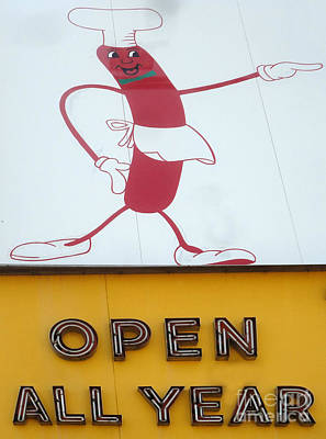 Photograph - Nathans Hot Dog Man by Gregory Dyer