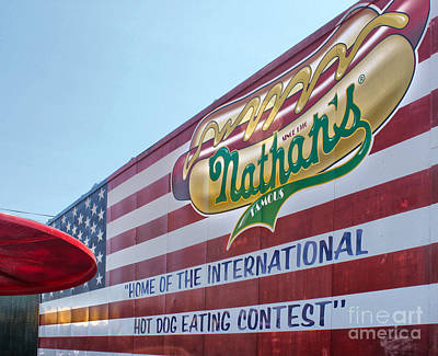 Photograph - Nathans Hot Dogs - Coney Island by Gregory Dyer
