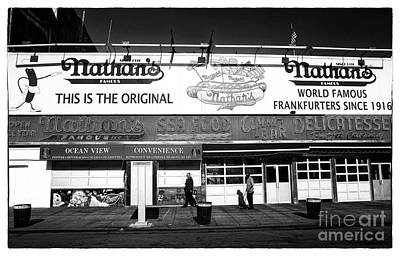 Hot Dogs Photograph - Nathans Noir by John Rizzuto