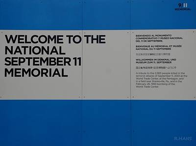National 9/11 Memorial  Art Print by Rob Hans