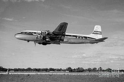 National Airlines Nal Douglas Dc-6 Art Print by Wernher Krutein