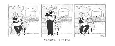 National Parks Drawing - National Anthem by Carl Rose