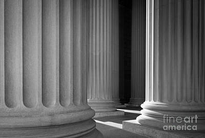 National Archives Columns Art Print by Inge Johnsson