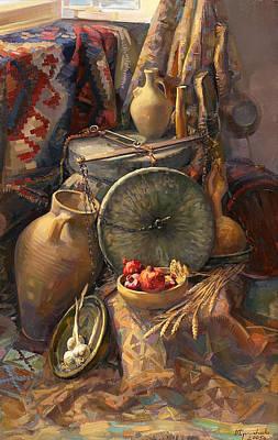 National Armenian Still-life Art Print by Meruzhan Khachatryan