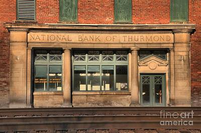 Thurmond Wall Art - Photograph - National Bank Of Thurmond by Adam Jewell