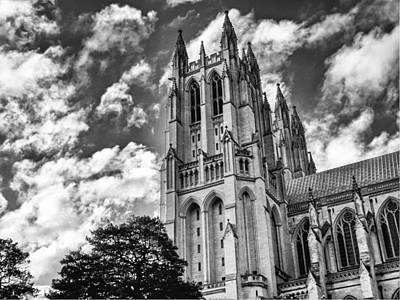 Photograph - National Cathedral 1950 by Guy Whiteley