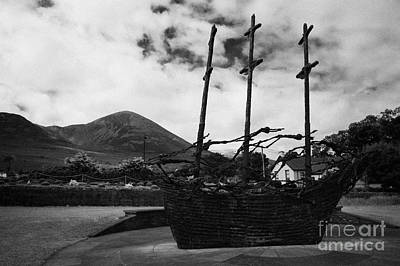 National Famine Memorial The Skeleton Ship By John Behan Beneath Croagh Patrick Mayo Print by Joe Fox