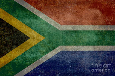 National Flag Of The Republic Of South Africa Art Print by Bruce Stanfield