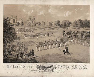 National Guard 7th Regiment N.y.s.m.  On Stone By Charles Print by Litz Collection