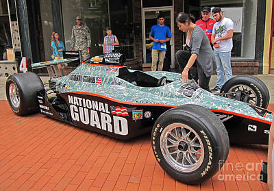 Photograph - National Guard Race Car Draws Attention by Valerie Garner