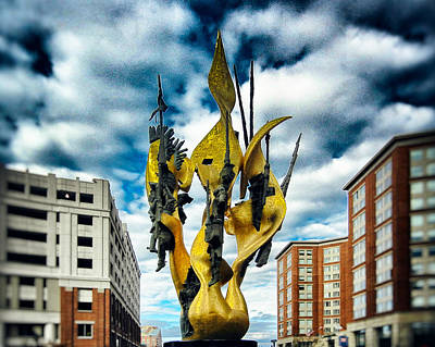 Photograph - National Katyn Memorial Harbor East Baltimore by Bill Swartwout Fine Art Photography