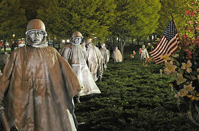 Photograph - National Korean War Memorial  by Richard Bryce and Family