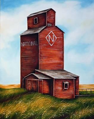 Saskatchewan Painting - National by Kristina Steinbring