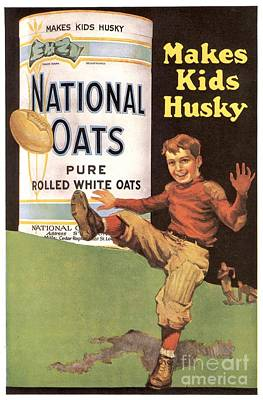National Oats 1920s Usa Cereals Art Print by The Advertising Archives