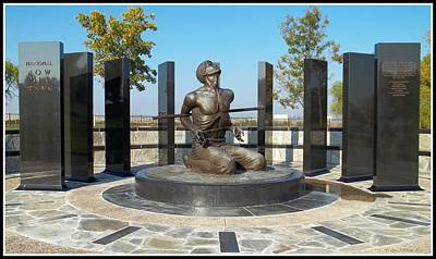 Patriotic Bronze Photograph - National Pow - M I A Memorial  by Glenn McCarthy Art and Photography