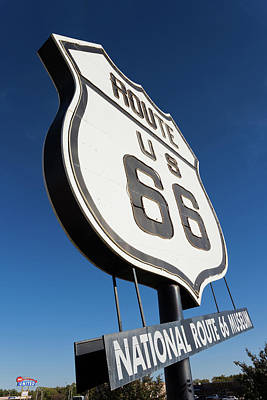Beckham Photograph - National Route 66 Museum Sign, Elk by Panoramic Images