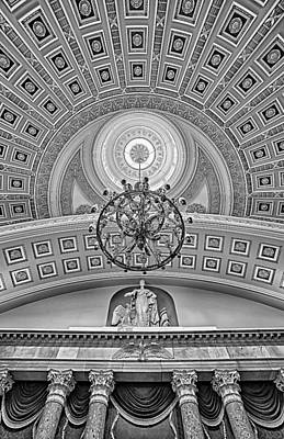 National Statuary Hall Bw Print by Susan Candelario
