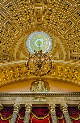 National Statuary Hall Art Print by Susan Candelario