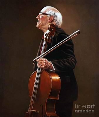 Painting - National Symphony Orchestra Director - Rostropovich by Paul Collins