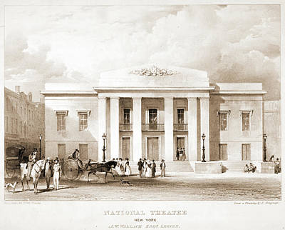 National Theatre, New York. J.w. Wallack Art Print by Litz Collection