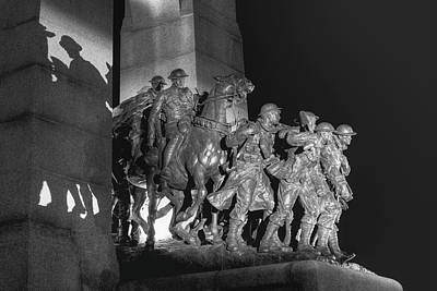 National Past Time Photograph - National War Memorial  Ottawa, Ontario by David Chapman