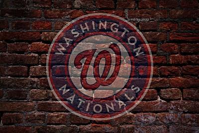 Centerfield Photograph - Nationals Baseball Graffiti On Brick  by Movie Poster Prints