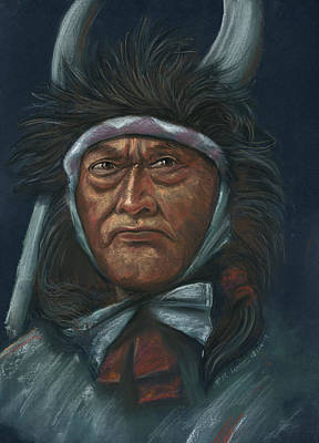 Pastel - Native-america by Prakash Leuva