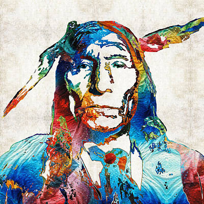 Native American Art By Sharon Cummings Art Print