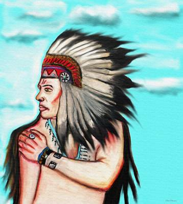 Occupy Mixed Media - Native American Chief 1 by Ayasha Loya