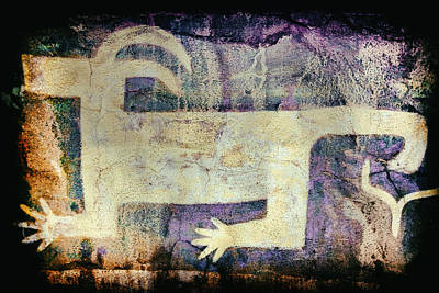 Photograph - Native American Coyote Pictograph by Jo Ann Tomaselli